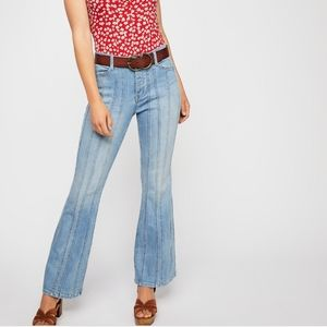 Free People 'So Many Seams' Flare Jeans